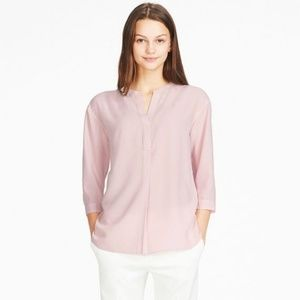Uniqlo Blush Colored Skipper Collar Blouse